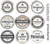 vintage retro vector logo for... | Shutterstock .eps vector #1017323371