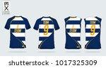 t shirt sport template design... | Shutterstock .eps vector #1017325309
