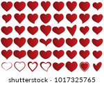 red heart vector icon... | Shutterstock .eps vector #1017325765