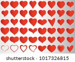 red heart vector icon... | Shutterstock .eps vector #1017326815