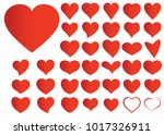 red heart vector set icon... | Shutterstock .eps vector #1017326911