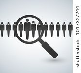 magnifying glass seeking people.... | Shutterstock .eps vector #1017327244