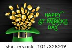 happy saint patrick's day... | Shutterstock .eps vector #1017328249