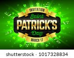 saint patrick's day  feast of... | Shutterstock .eps vector #1017328834
