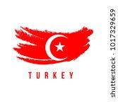 turkey flag brush logo vector... | Shutterstock .eps vector #1017329659