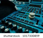 airplane control panel with lot ...   Shutterstock . vector #1017330859