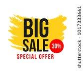 big sale 30  special offer... | Shutterstock .eps vector #1017333661