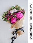 Small photo of Giving flowers to someone you care,love,honour,cherish,respect,congrats or special occasion / Say It With Flowers / Flowers offers more than just beauty and peace,also its fragrance and vivid colors