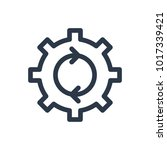 process icon. isolated cogwheel ... | Shutterstock . vector #1017339421