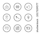 pack icons set with plate ...