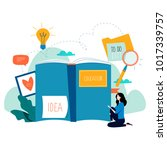 education  online training... | Shutterstock .eps vector #1017339757