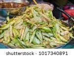 spicy mango salad  thai food  | Shutterstock . vector #1017340891