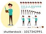 freelance character creation... | Shutterstock .eps vector #1017342991