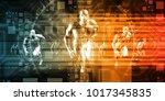 social media trends and...   Shutterstock . vector #1017345835