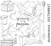 black and white monochrome set... | Shutterstock .eps vector #1017348817