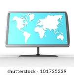3d widescreen tft display with... | Shutterstock . vector #101735239