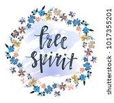 free spirit hand drawn... | Shutterstock .eps vector #1017355201