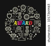 award colorful gradient with... | Shutterstock .eps vector #1017364465