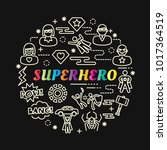 superhero colorful gradient... | Shutterstock .eps vector #1017364519