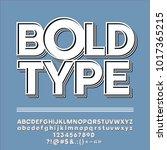 vector hipster vintage alphabet.... | Shutterstock .eps vector #1017365215