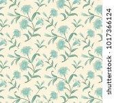 floral seamless pattern... | Shutterstock .eps vector #1017366124