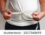 fat people use waist...   Shutterstock . vector #1017368695