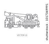 line flat vector icon... | Shutterstock .eps vector #1017369991