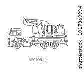 line flat vector icon...   Shutterstock .eps vector #1017369994