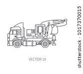 line flat vector icon... | Shutterstock .eps vector #1017370015