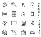 e commerce flat icon set .... | Shutterstock .eps vector #1017372055