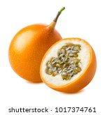 granadilla. whole yellow...   Shutterstock . vector #1017374761