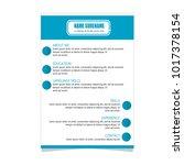 resume curriculum vitae... | Shutterstock .eps vector #1017378154