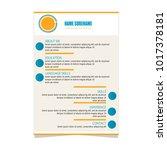 resume curriculum vitae... | Shutterstock .eps vector #1017378181