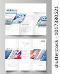 tri fold brochure business... | Shutterstock .eps vector #1017380521