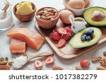 keto  ketogenic diet  low carb  ... | Shutterstock . vector #1017382279