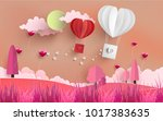 illustrations of love and... | Shutterstock .eps vector #1017383635