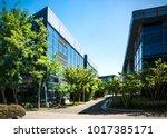 exterior of a modern small...   Shutterstock . vector #1017385171
