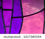 Stained glass in colors purple...