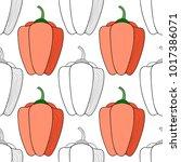 vegetables  pepper. black and...   Shutterstock .eps vector #1017386071