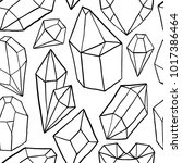 seamless pattern with diamonds  ... | Shutterstock .eps vector #1017386464