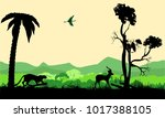 Wildlife Silhouettes Vector...