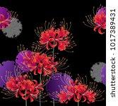 japanese style cluster... | Shutterstock .eps vector #1017389431