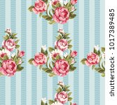 seamless floral pattern with... | Shutterstock .eps vector #1017389485