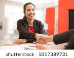 portrait of smiling mixed race...   Shutterstock . vector #1017389731
