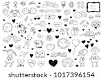 collection of valentine's cards ... | Shutterstock .eps vector #1017396154
