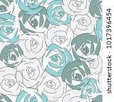abstract flower seamless... | Shutterstock .eps vector #1017396454