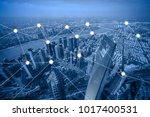 network and connection concept... | Shutterstock . vector #1017400531