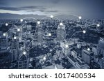 network and connection concept... | Shutterstock . vector #1017400534