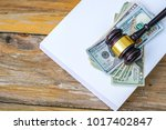 gavel hammer and book with... | Shutterstock . vector #1017402847