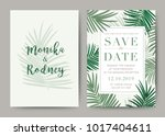 set of wedding card template... | Shutterstock .eps vector #1017404611